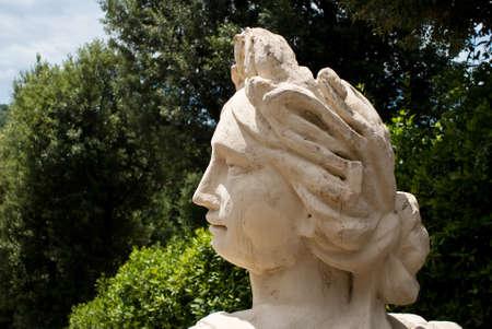 Woman Statue in Garzoni garden, Italy  photo
