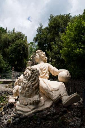 garzoni: Woman Statue in Garzoni garden, Italy