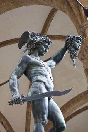 Bronze Statue Of Perseus, Florence, Italy  Stock Photo