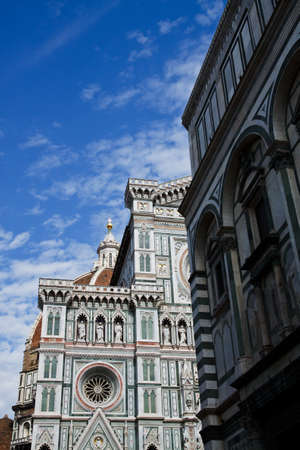 Details on a cathedral in Florence Italy Santa Maria del Fiore Cupola of Brunelleschi  Stock Photo