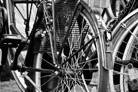 Many bicycles parked in a row Stock Photo - 7453815