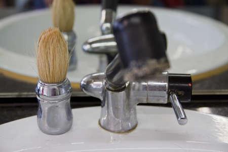 Barber salon. Hair cutting equipment  Stock Photo