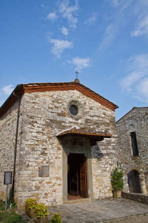 An image of antique church in Rufina, Florence, Italy