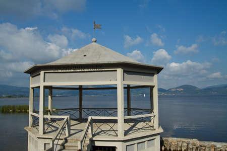 An image of Massaciuccoli lake in Torre del Lago, Tuscany Italy  Stock Photo