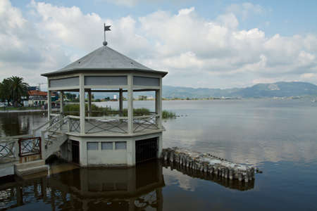 An image of Massaciuccoli lake in Torre del Lago, Tuscany Italy  Stock Photo