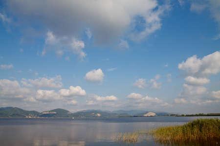 An image of Massaciuccoli lake in Viareggio, Italy
