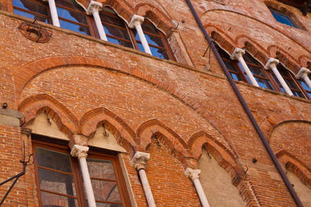 Ancient architecture in the city of Lucca Italy  Stock Photo