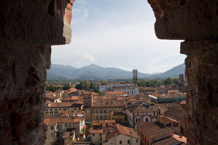 Red rooftops of Lucca  Stock Photo