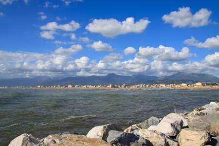 Coast of the Versilia. Viareggio Tuscany, Italy
