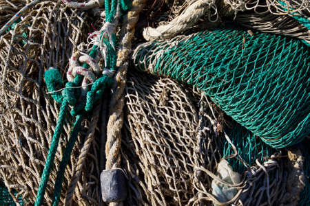 An image Close-up of a fishing net  Stock Photo