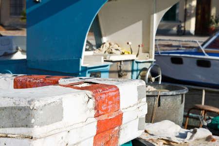 An image of Fishing boat in Viareggio, Italy  Stock Photo