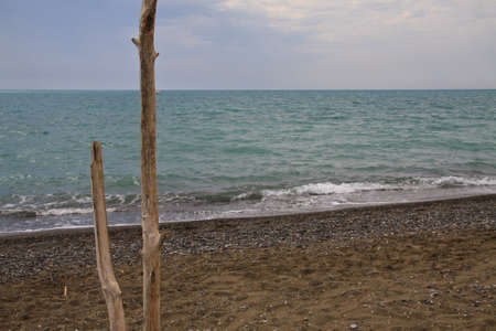 Cecina beach. Tuscany, Italy  Stock Photo