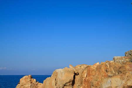 Coastline rocks in Giglio Island