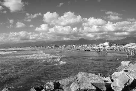 Coast of the Versilia. Viareggio Tuscany, Italy
