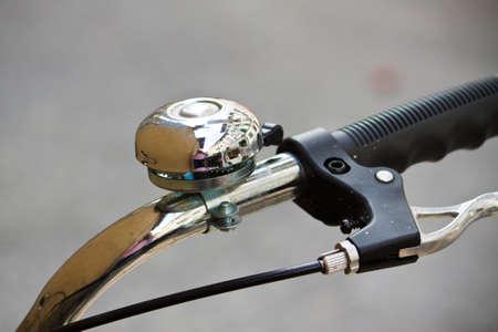 handlebar: Handlebar and ring of modern city bicycle