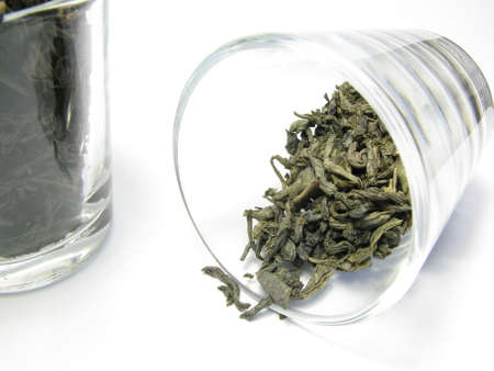 sapless: green and black tea in glass