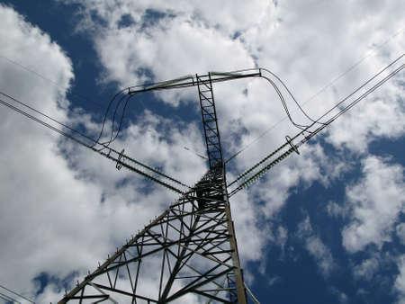 isolator insulator: high-voltage transmission line