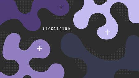 Strand Hair Shape Background. Blue, Green, Cyan Color. Design Graphic Vector Template Ilustração
