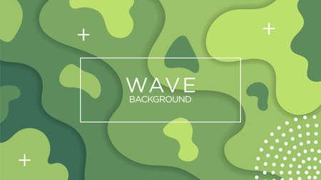 Strand Hair Shape Background. Blue, Green, Cyan Color. Design Graphic Vector Template EPS10 Ilustração