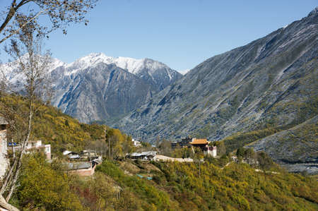 kandinsky: The scenery in kangding County of Sichuan province, China