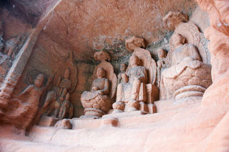 sichuan: The Buddha in Leshan, Sichuan, China Stock Photo