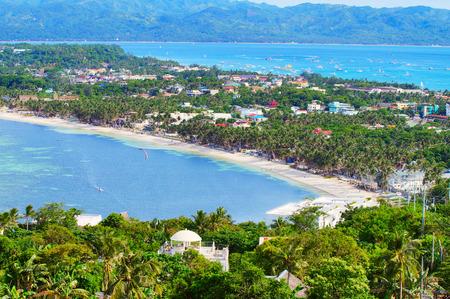 beautiful coast of Boracay island, Philippines Stock Photo