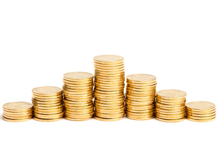 future earnings: gold coins Stock Photo