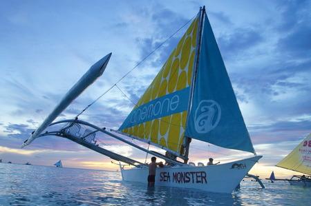 yachting: Yacht Sailing against sunset. Sailboat. Yachting. Sailing. Travel Concept. Vacation