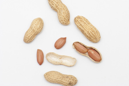 earthnut: Many peanuts in shells, one upon the other