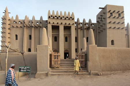 The famous grand mosque of Djenne, Mali Éditoriale