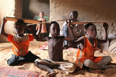 Boys at a Koran school in Africa
