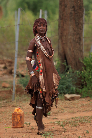 African tribal woman, or the Hamar tribe
