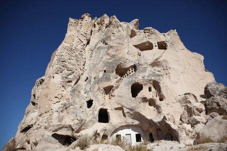 Ancient cave houses in Cappadocia, Turkey