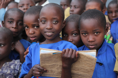 country nigeria: Children at school, Africa Editorial
