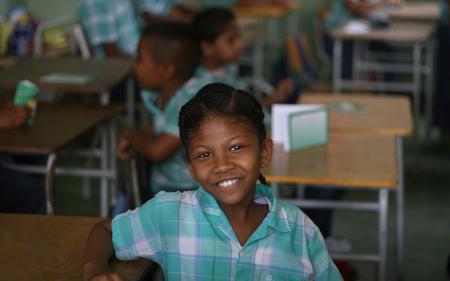 poor african: Schoolgirl, Paramaribo