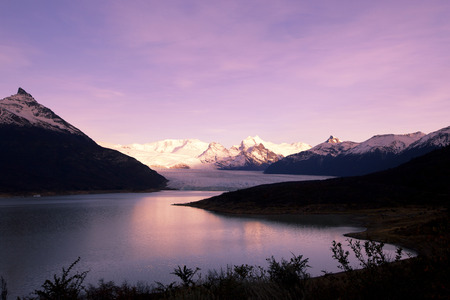 calving: glacier, Perito Moreno in Patagonia Editorial