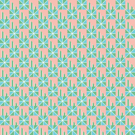 Abstract geometric pattern. geometric and modern pattern for brand who has edgy style, It can use for background, print, card, website, and anything. The art vector graphic with playful style. Mix of square and triangle elements give a contrast and cheerful mood.