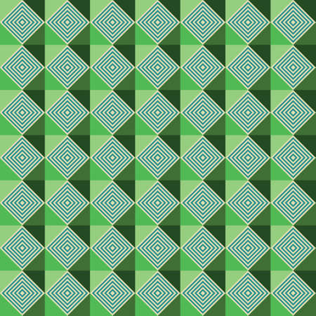 Dizzy green hologram Arabic geometric pattern. Geometric and modern pattern for brand who has edgy style.Repeated pattern. Mix of rectangle and triangle elements give a contrast and playful look.