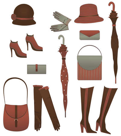 The set of female accessories Illustration