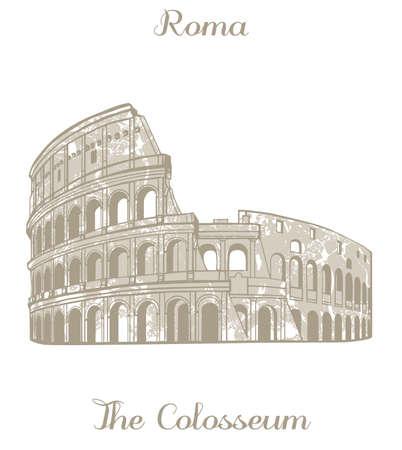 amphitheatre: textured illustration of Colosseum in Rome