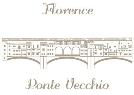 ilustración textura de Ponte Vecchio