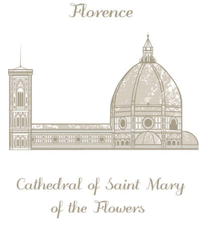 saint mary: illustration of Cathedral of Saint Mary of the Flowers