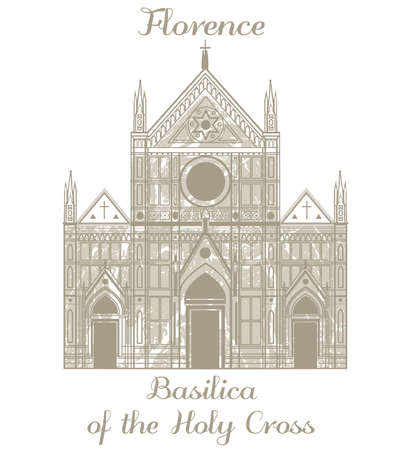holy place: illustration of Basilica of the Holy Cross