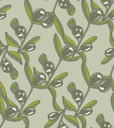 papaer: vector seamless hand drawn olive light background