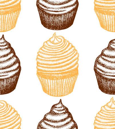 graphic seamless cupcake background