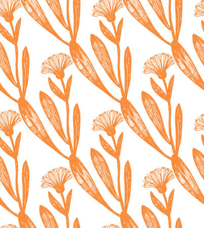 calendula: seamless calendula background Illustration
