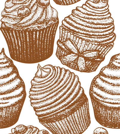 vector cupcake background