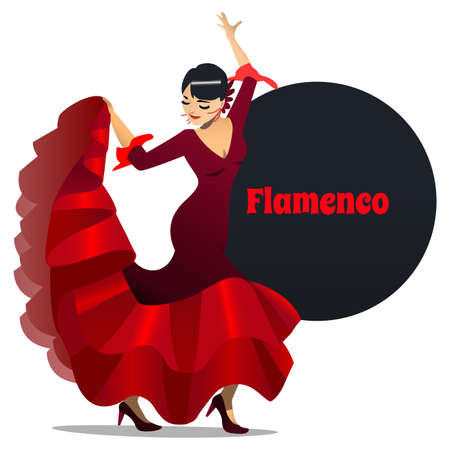 Flamenco Dancer in Cartoon Style