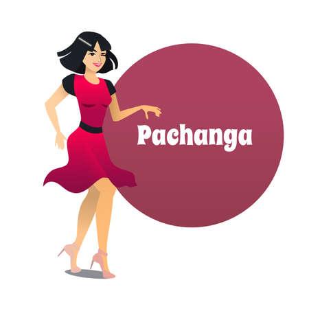 Pachanga Dancer in Cartoon Style Ilustração
