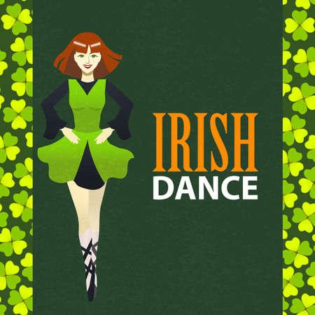 Irish Dance Studio Template in Cartoon Style